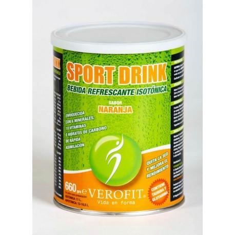 SPORT DRINK BEBIDA ISOTÓNICA -NARANJA (660 gr)
