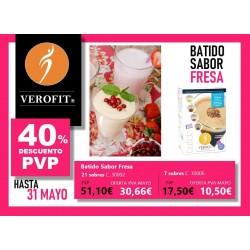 BATIDO SABOR FRESA (7 SOBRES)
